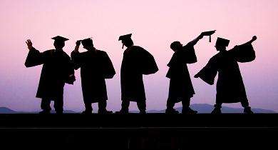 shadow image of graduates