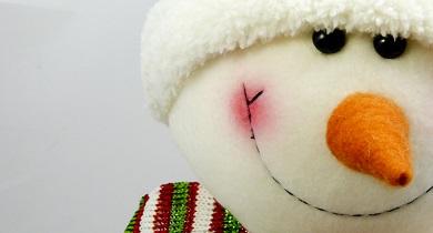 smiling snowman face
