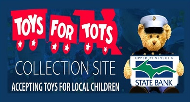 Toys for tots train and bear